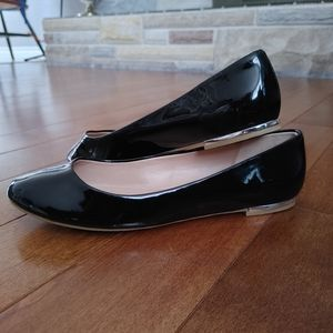 Call it Spring vegan patent leather flats size 8.5